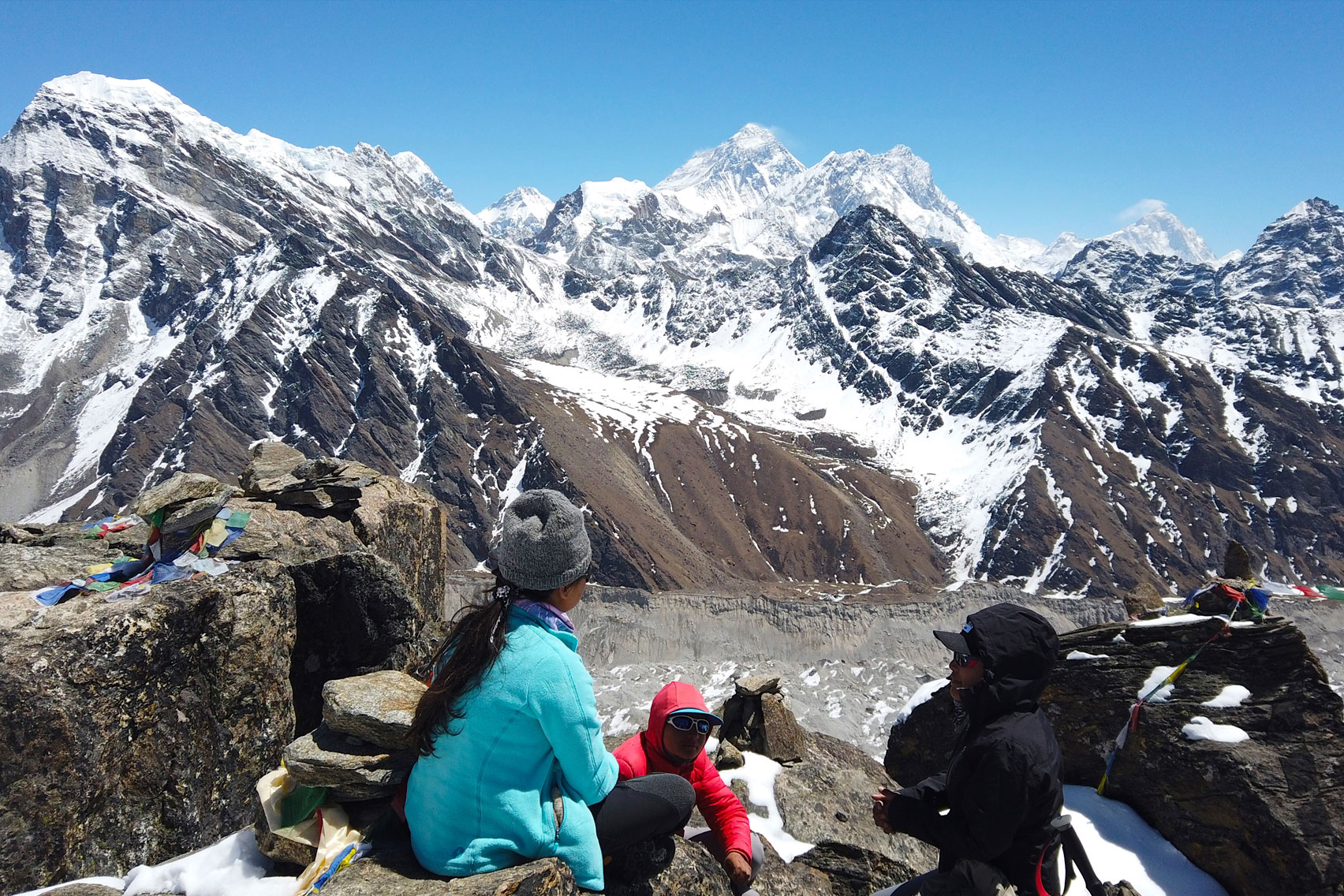 Day 9: Trek from Machermo (4410m) to Gokyo (6hrs, 4759m)