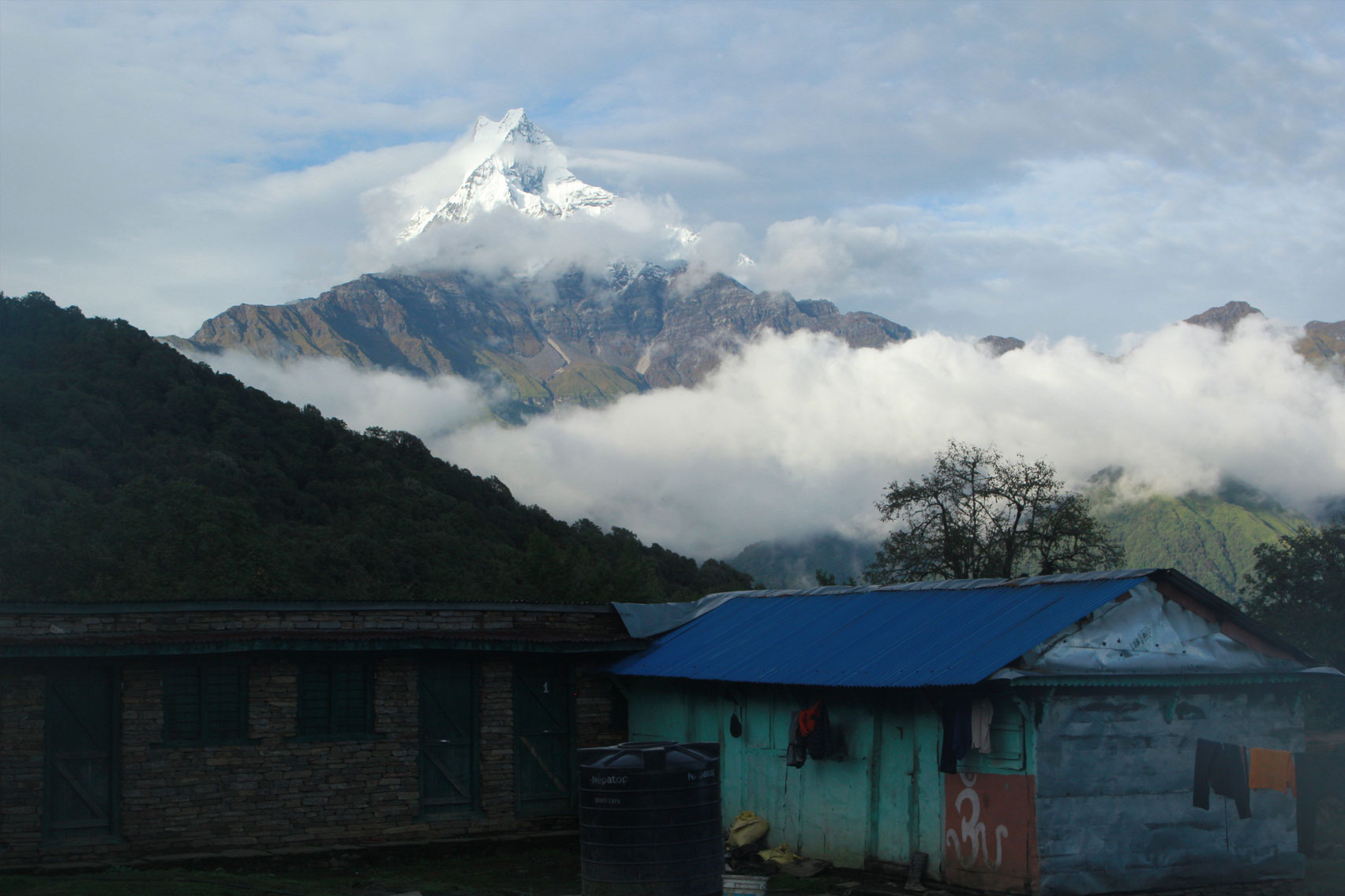 Day 4: Trek from Pothana (1890m) to Jungle Camp/Koker (5 hrs, 2525m)